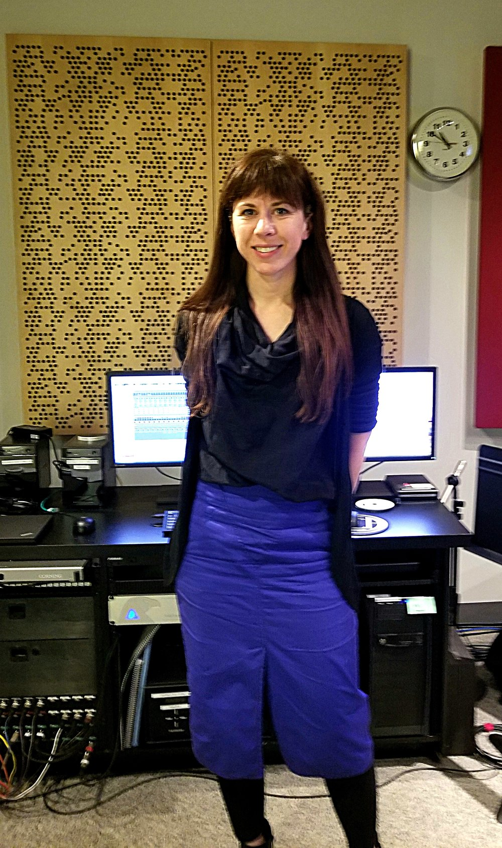 Missy Mazzoli inside a studio at Symphony Center