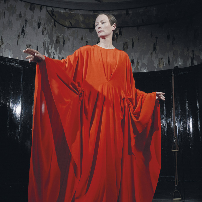 Tilda Swinton as Madame Blanc in SUSPIRIA