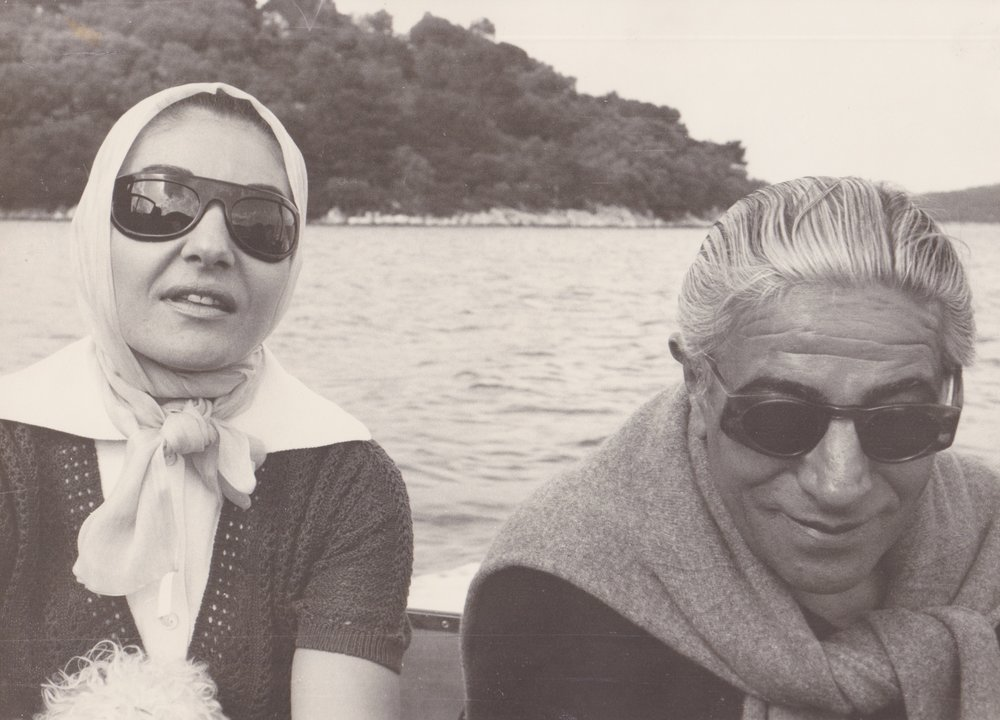 Maria Calls with Aristotle Onassis