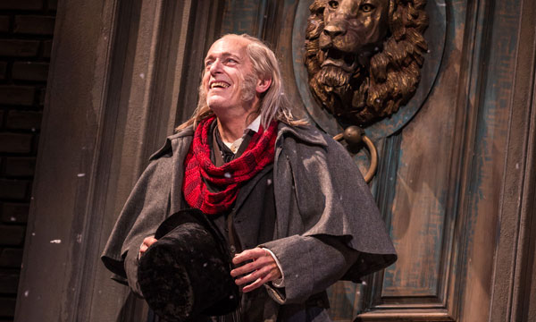 Larry Yando (Ebenezer Scrooge) in Goodman Theatre's  A Christmas Carol