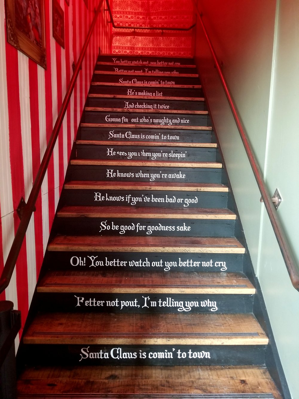 Santa stairs