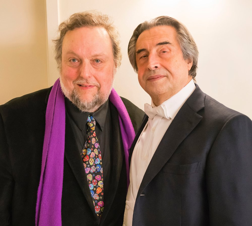 Music writer Dennis Polkow and CSO Maestro Riccardo Muti