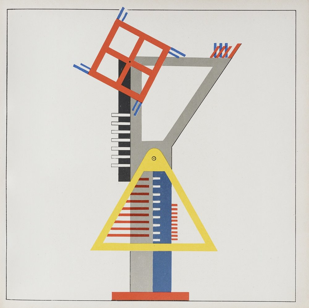 Kurt Schmidt, Construction for fireworks, from the Stage Workshop, 1923, lithograph. Reproduction 2017 Photo credit: Institut für Auslandsbeziehungen