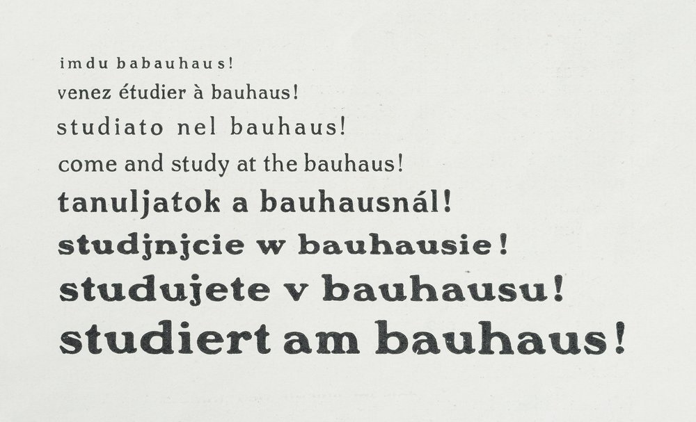 "Hannes Meyer, (editor), ""study at the bauhaus!"" bauhaus, journal for design, 2 / 3, 1928. Photo credit : A. Körner, bildhübsche Fotografie, Institut für Auslandsbeziehungen"