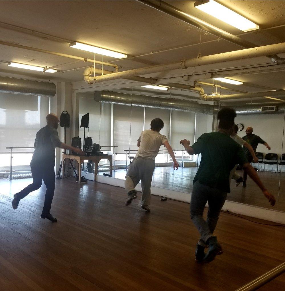 Chicago Human Rhythm Project dancers rehearsing