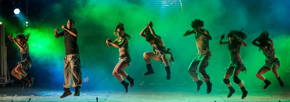 Mayumana dancers performing CURRENTS