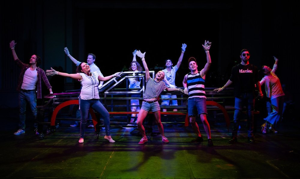 The cast of HANDS ON A HARDBODY from Refuge Theatre Project. Photo credit: Nick Roth