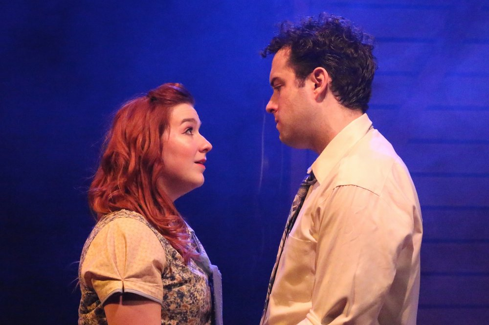 Missy Wise and Josiah Robinso in BoHo Theatre's BRIGHT STAR. Photo credit: Katie Stanley & Cody Jolly