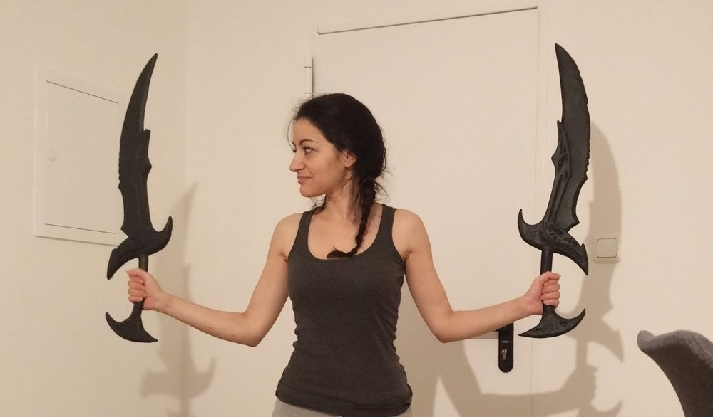 These might not be a bow but I was waving them and played around. And yes, I did that more than once...