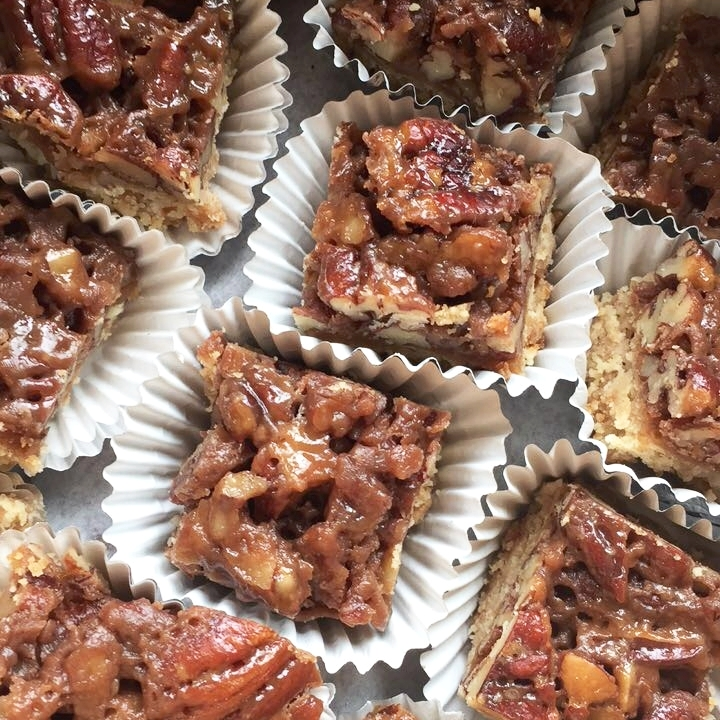 sugar free maple pecan bars