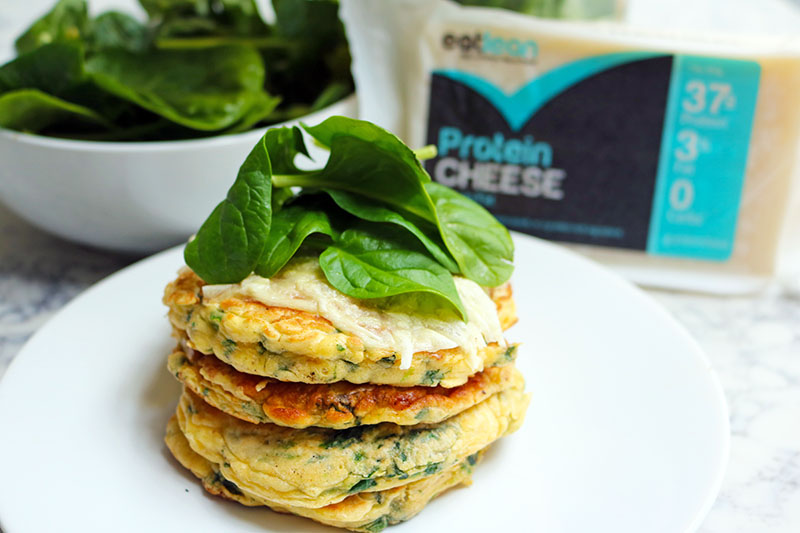 Protein Cheese & Spinach Pancakes