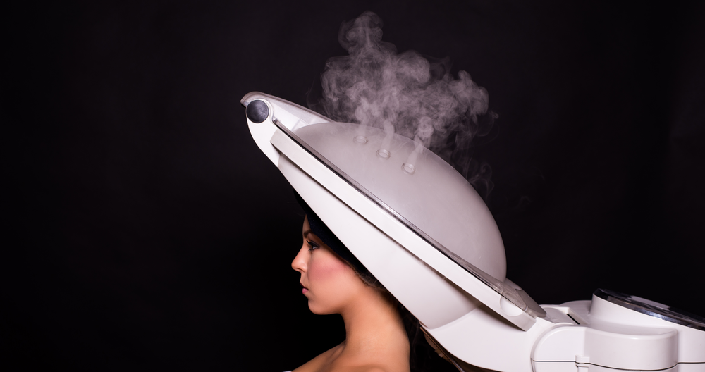 Woman recieving Steam Treatment
