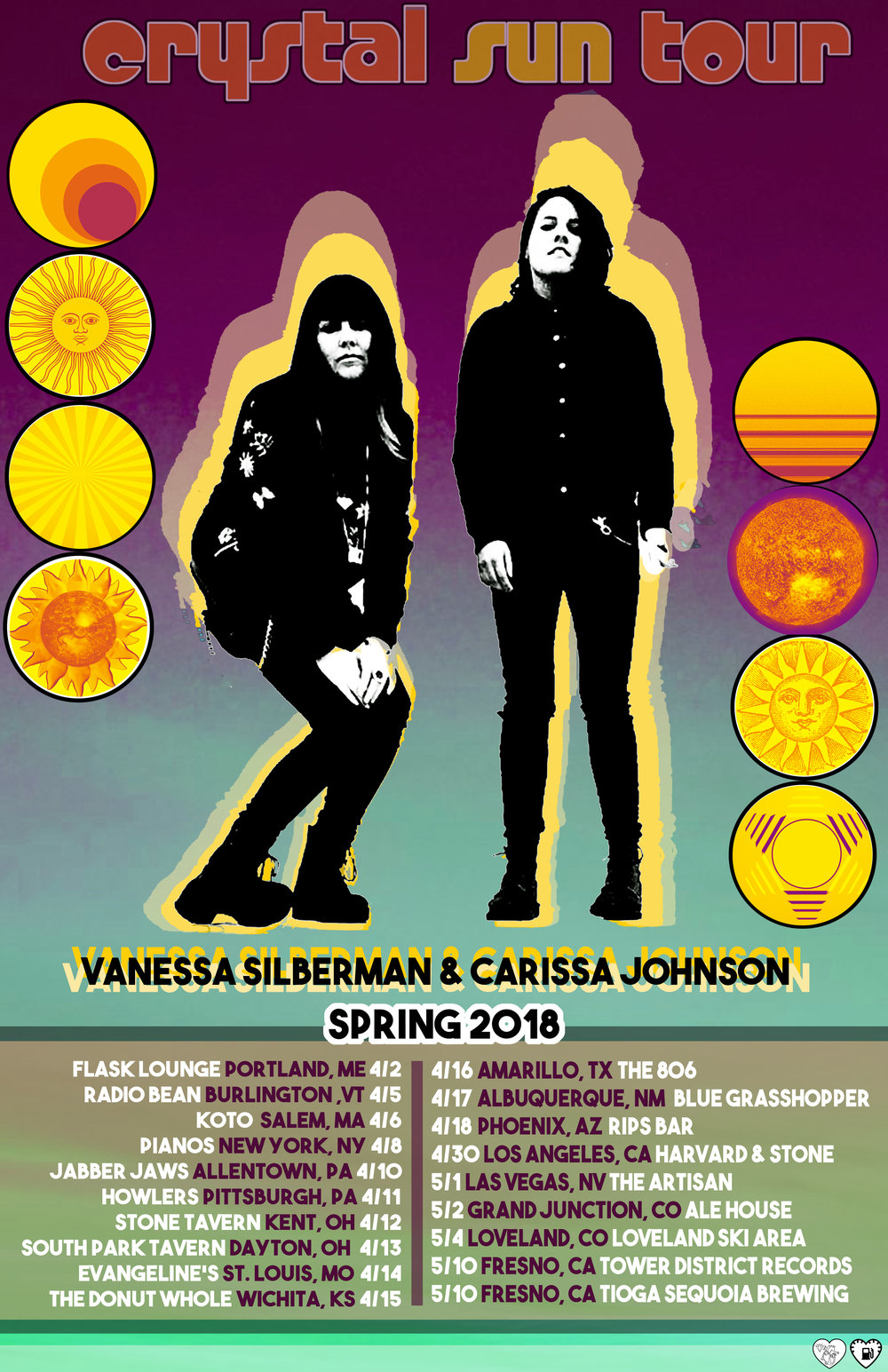 New Tour Dates for Spring 2018 w/  Vanessa Silberman  announced!