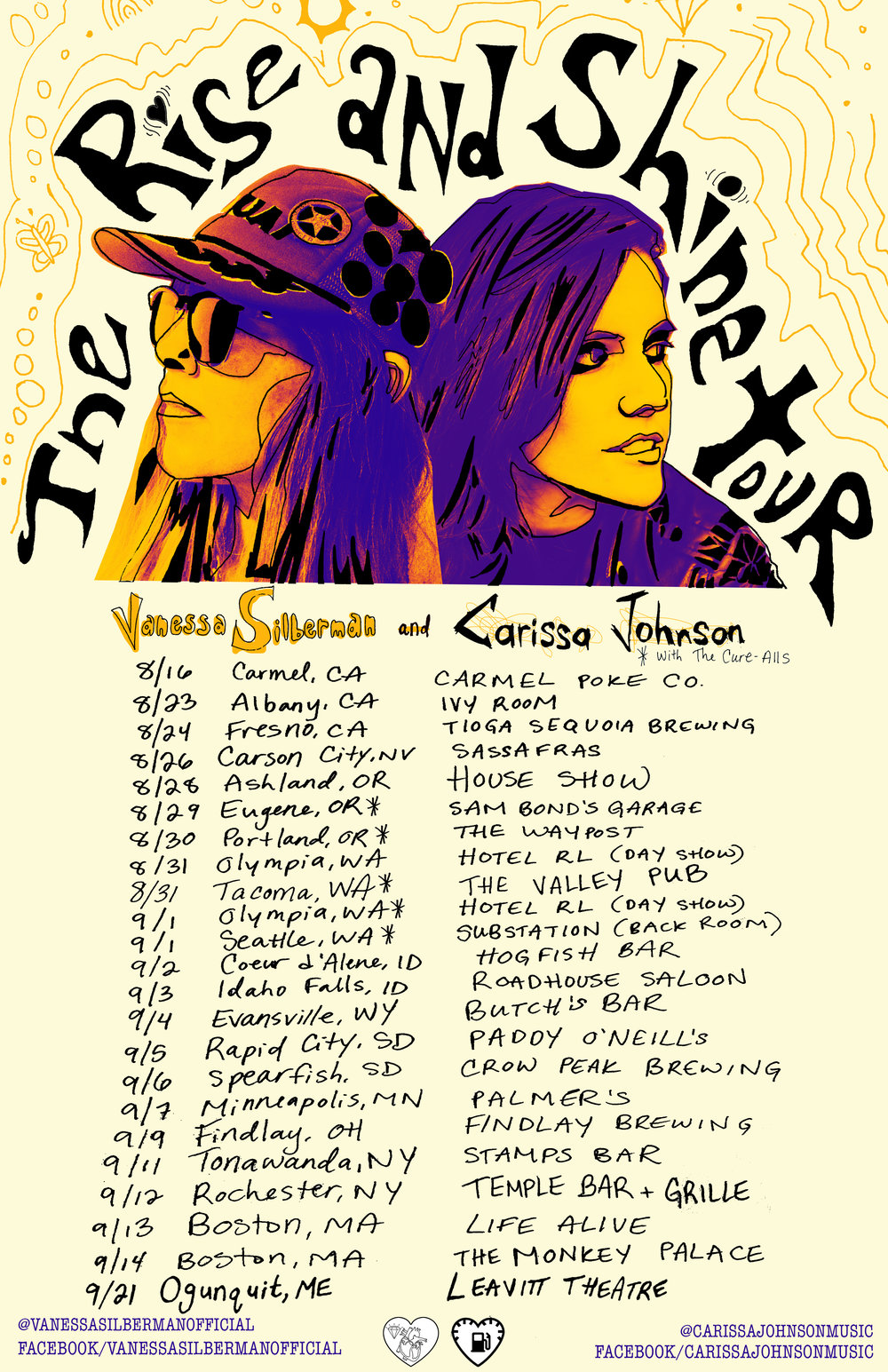Carissa Johnson and Vanessa Silberman Tour 2018