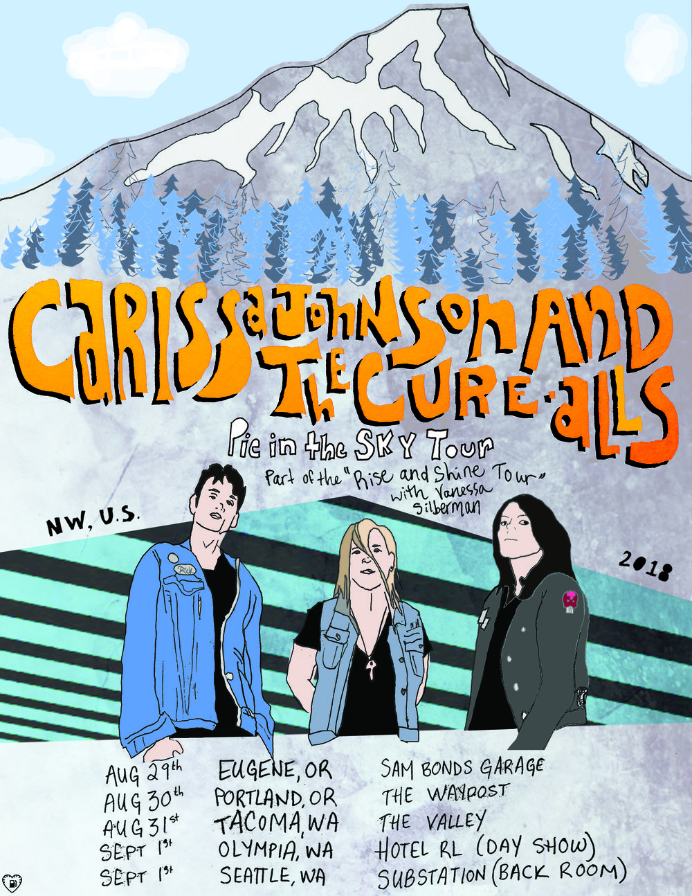 "Carissa Johnson & the Cure-Alls NW US Tour 2018 (Part of the ""Rise and Shine Tour"" with Vanessa Silberman"