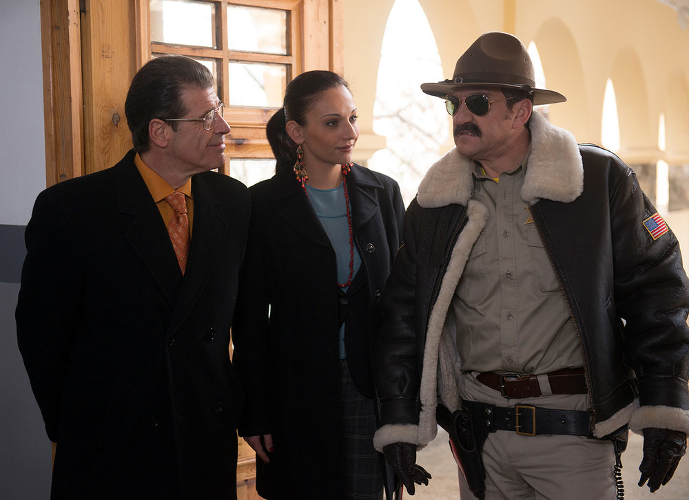 The evil doers, Steven Hartley as Principal Maguire, Tsvetomira Stefanova as Mrs. Peach, and Steve Nicolson as Sheriff Wilcox
