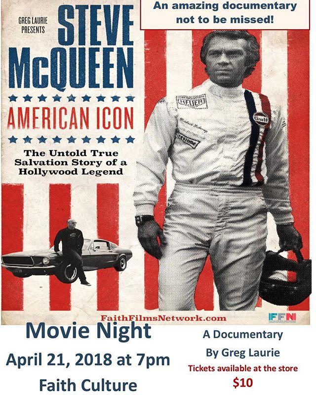 Movie Night is this Saturday! #movienight #christianmovies #faithculturelive #eventstoronto #shoplocal #inspirationalmovies #stevemcqueen