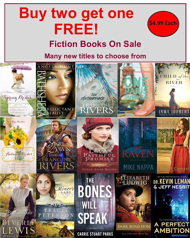 But two get one FREE!  Each $4.99 #faithculturelive #books #fictionbooks #buytwogetonefree #gifts #events #eventstoronto #shoplocal #inspirational #mothersdagiftideas
