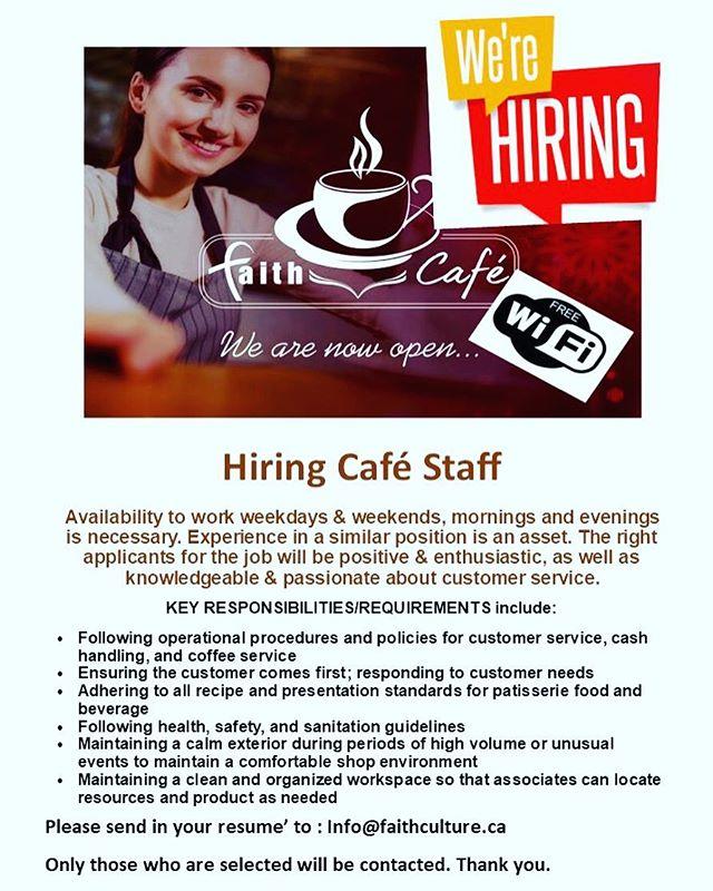 We're hiring! #wearehiring #hiring #jobs #barista #jobvacancy