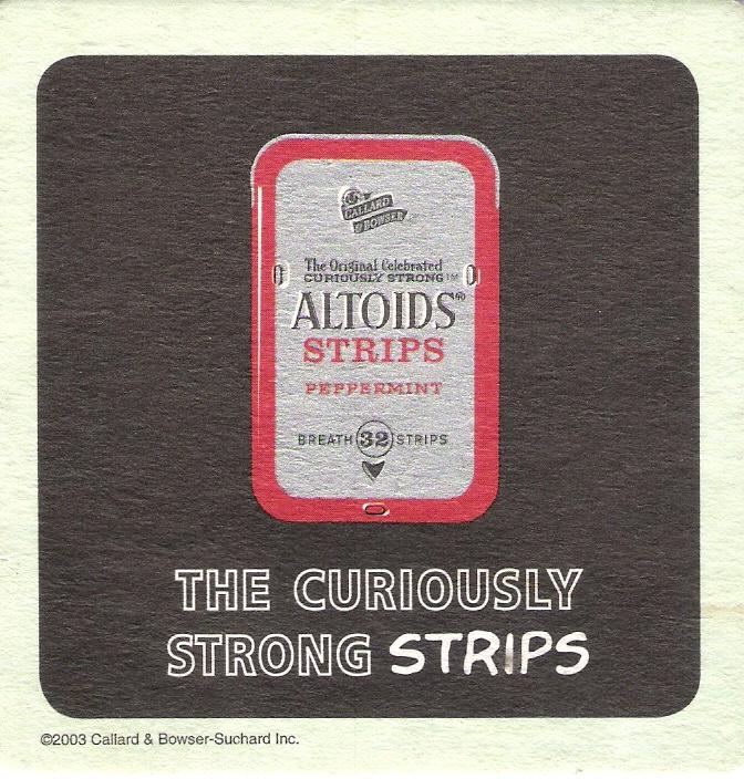 Altoids Strips - Bar Coaster (back)