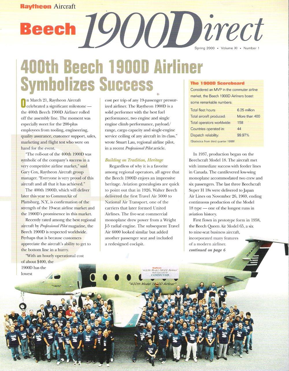 Beech 1900Direct Newsletter - 2000