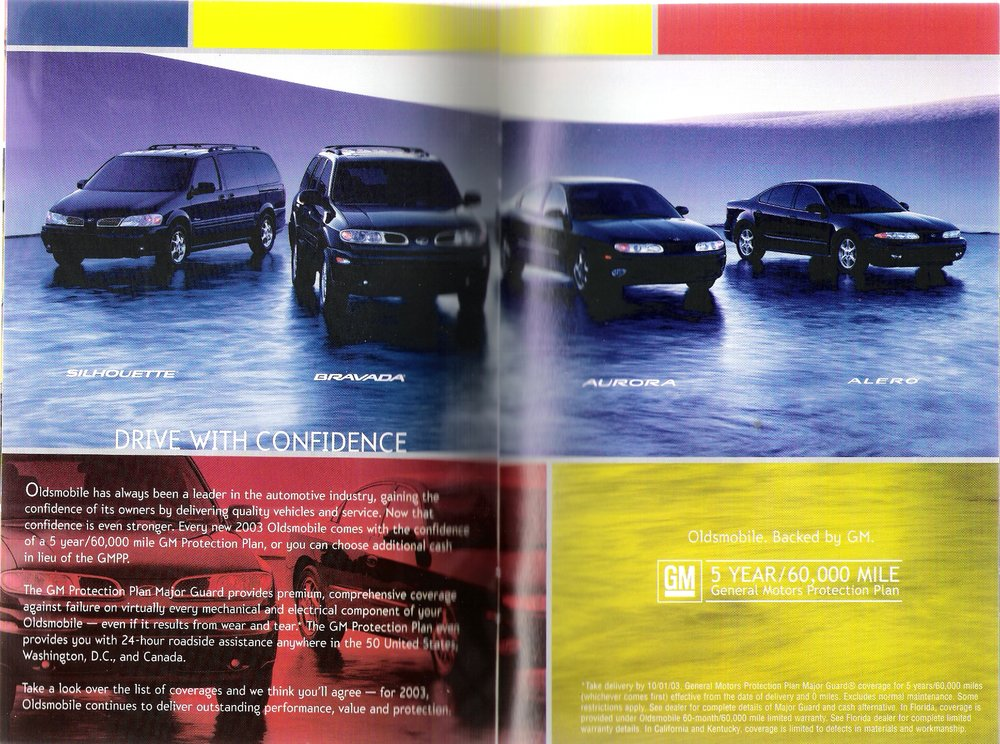 National Auto Show - GM Oldsmobile Catalog & DVD Experience (Insert/Mini Catalog)