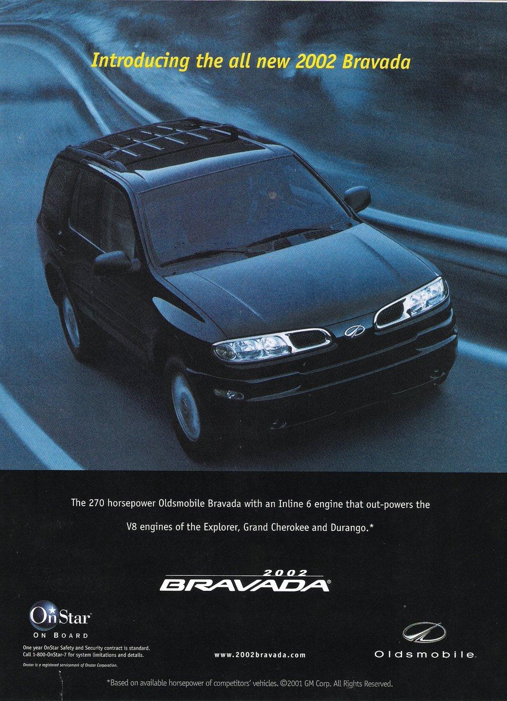 GM Oldsmobile - Bravada Print Ad