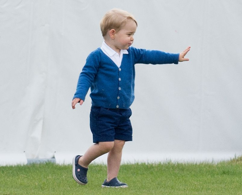 Prince George in Crocs