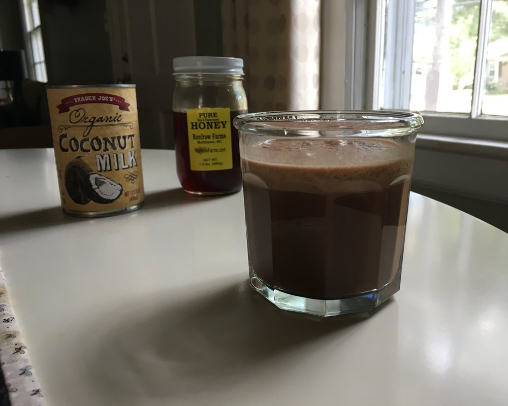 Iced Mocha with Coconut Milk - Vegan option