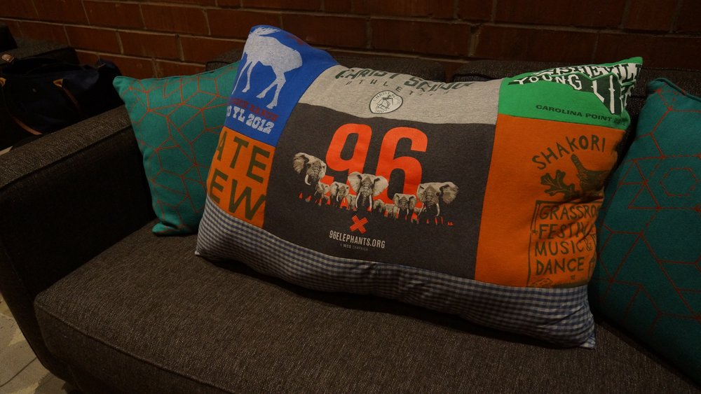 THrow Pillow - Created from client's garments