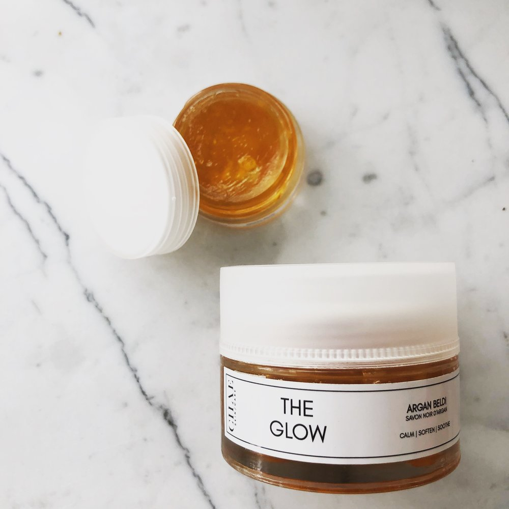 THE GLOW  $12-28  MULTI-TASKING DEEP CLEANSER MADE OF COLD-PRESSED ARGAN OIL FROM THE ARGAN FOREST IN MOROCCO. AVAILABLE IN ORIGINAL + BOOSTED WITH NEROLI, GERANIUM OR SANDALWOOD.