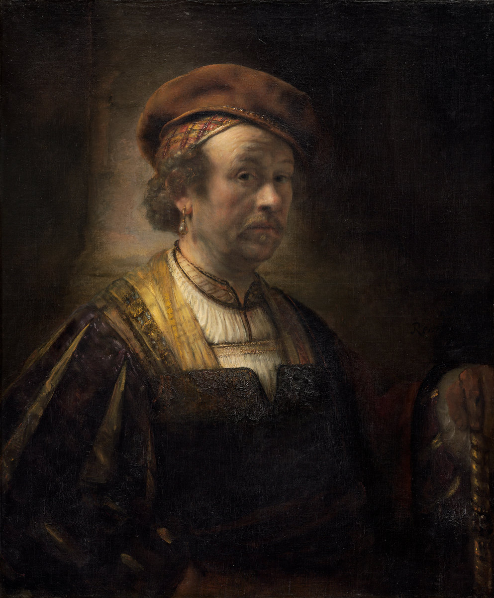 Rembrandt Workshop.  Portrait of Rembrandt,  (1650), oil on canvas. National Gallery of Art, Widener Collection, 1942.9.70.