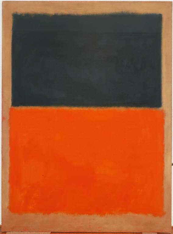 Mark Rothko,  Green and Tangerine on Red,  1956, oil on canvas, 93 5/8 x 69 1/4 in.; 237.8075 x 175.895 cm., The Phillips Collection, Washington, D.C.