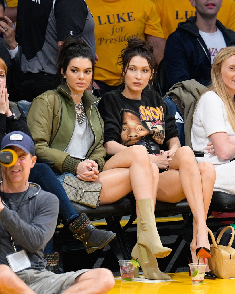 Kendall Jenner and Bella Hadid went for two really trendy looks of the time: vintage tees and bombers!