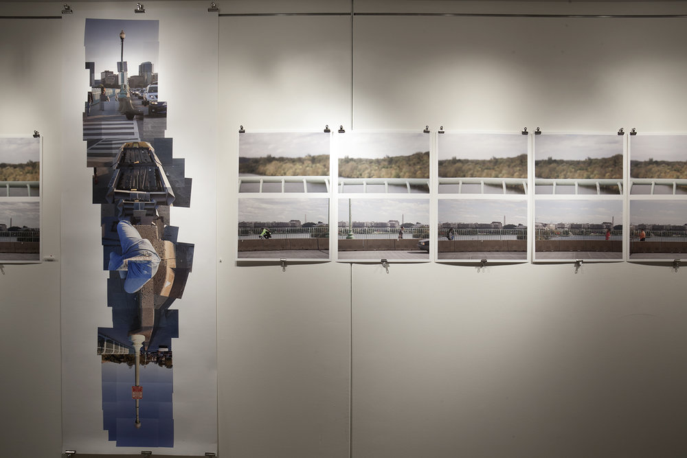Streams Key Bridge  installed in the Mezz gallery, Artisphere; Arlington, Virginia, 2012