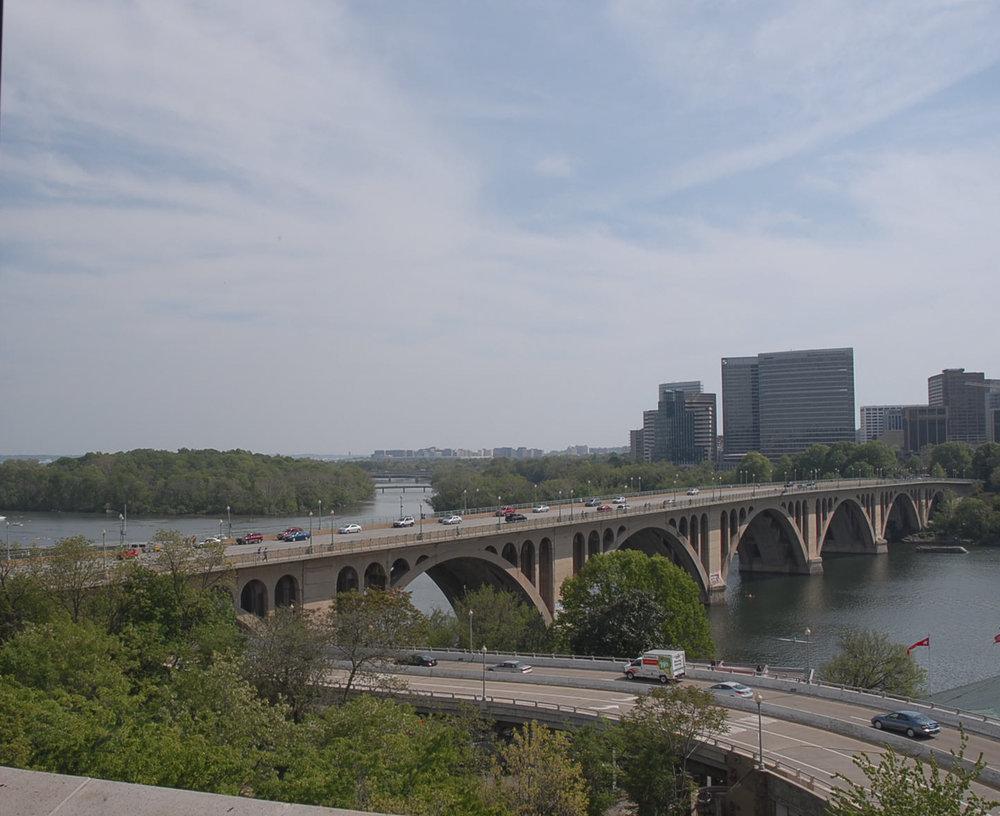 Key Bridge, Washington DC and Arlington Virginia,Time Lapse frame
