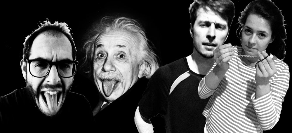 Holding things together: Clemens Wenger, Albert Einstein, Fabian Coosmann, Clara Rosa Rindler-Schantl