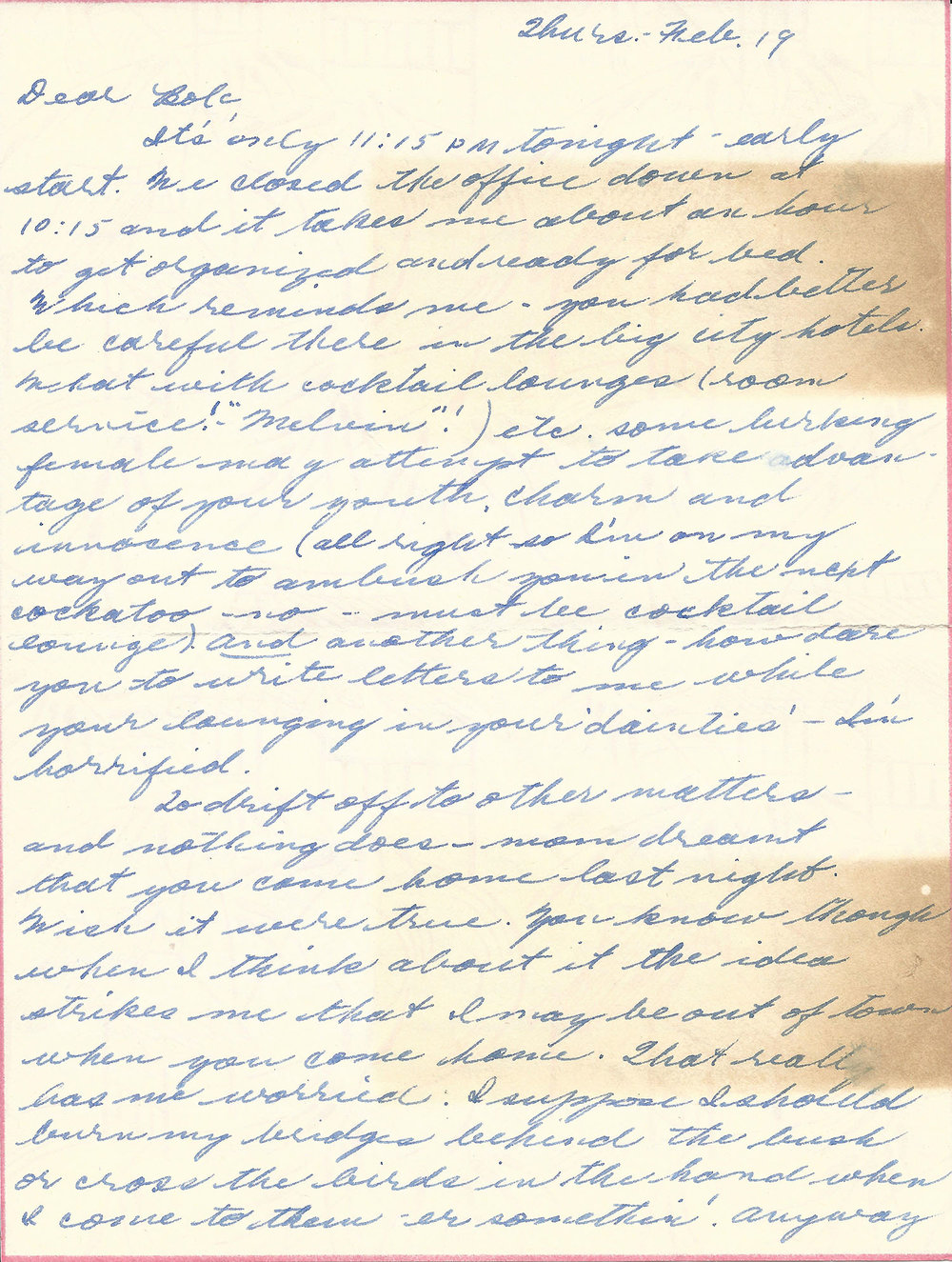 Feb. 19, 1953 (Marj) Page 1