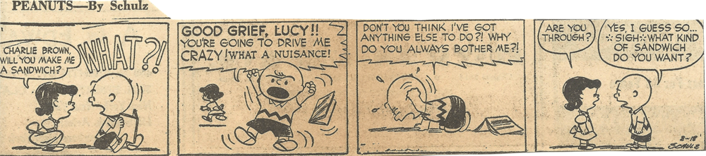 Feb. 19, 1953 (Marj) Peanuts 2