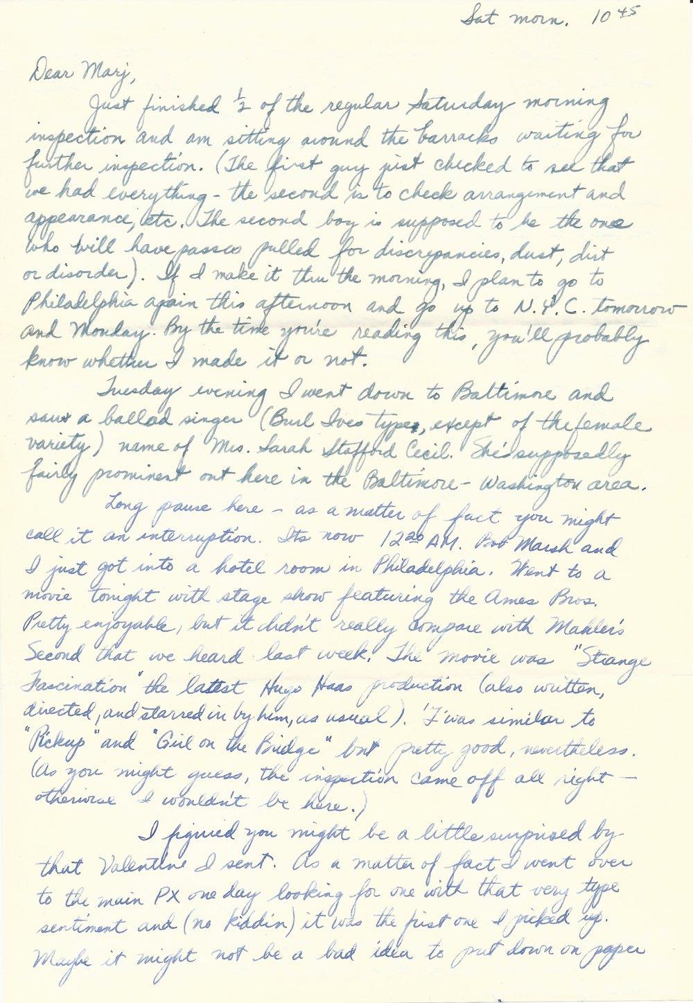 Feb. 21, 1953 (Bob) Page 1