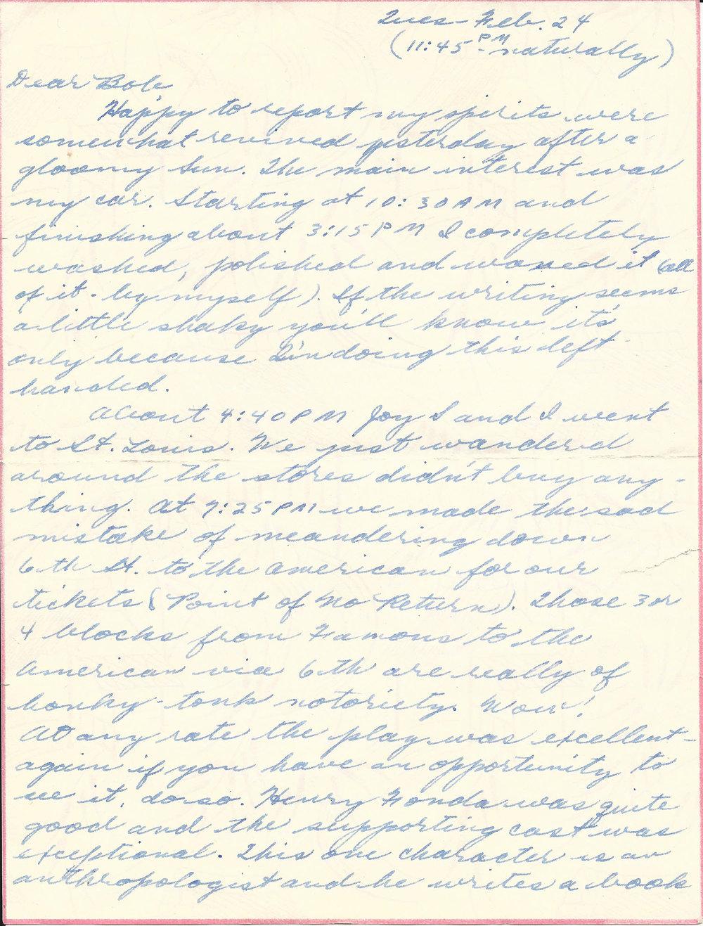 Feb. 24, 1953 (Marj), Page 1