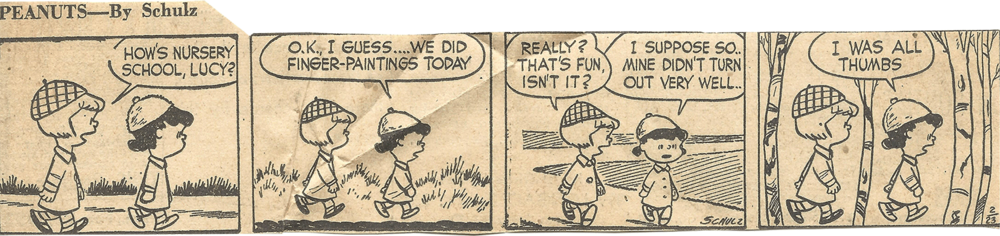 Feb. 24, 1953 (Marj), Peanuts 1