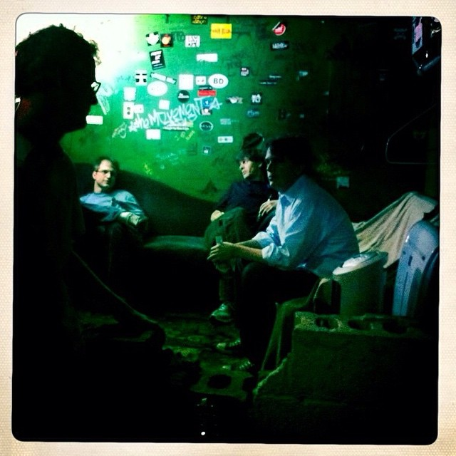 The majestic green room of The Visulite Theater.  See you there on 12/5/14.