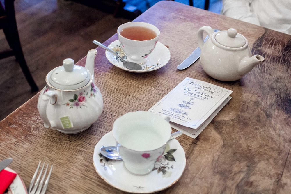 City Guide: Off Duty in Glasgow - where to drink tea - the butterfly and the pig