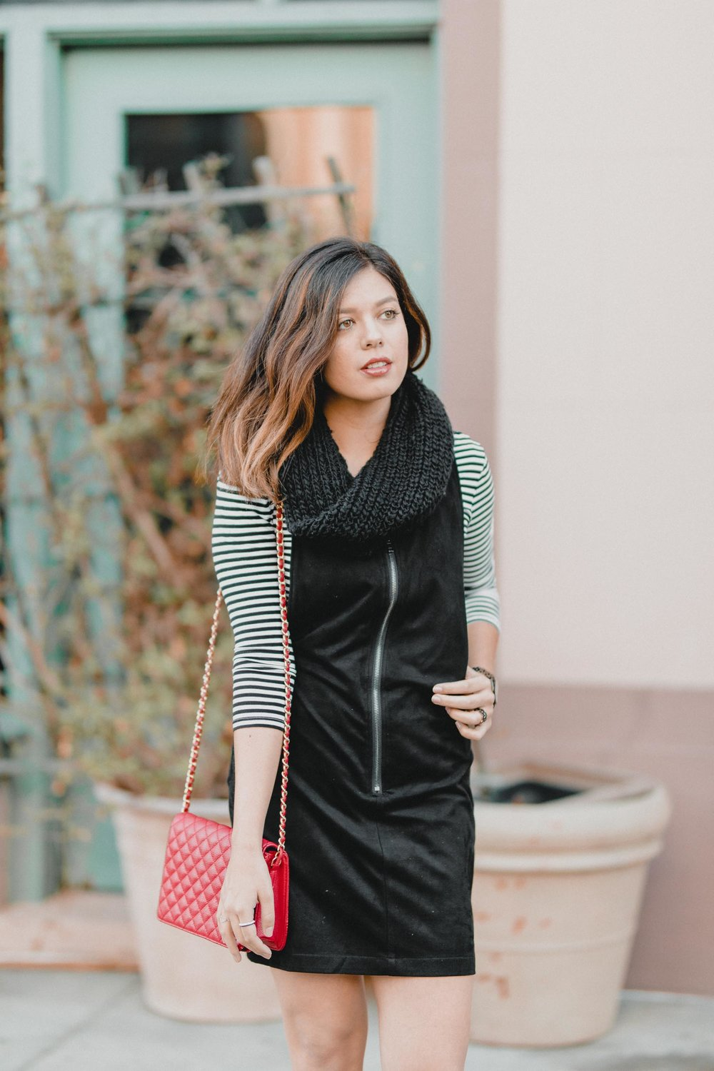 Rachel Off Duty: How to Style a Suede Dress