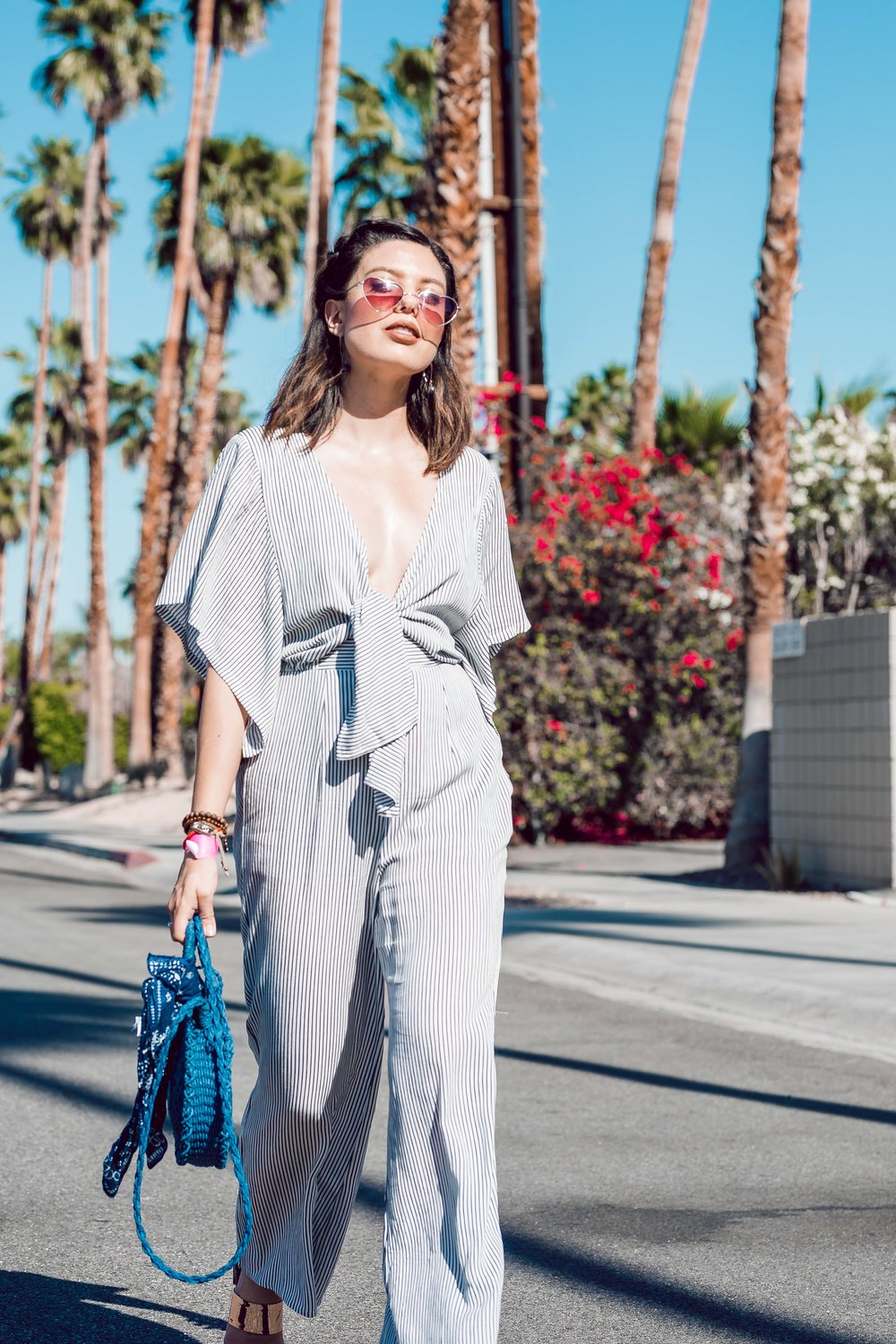 Rachel Off Duty: How to Style Patterned Jumpsuits for Summer