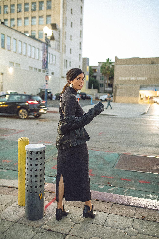 Rachel Off Duty: Fall Fashion Statements - Midi Sweater Dress