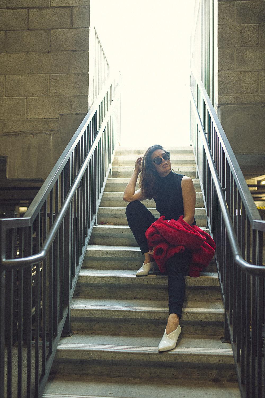 Rachel Off Duty: Fall Fashion Statements - Teddy Jacket
