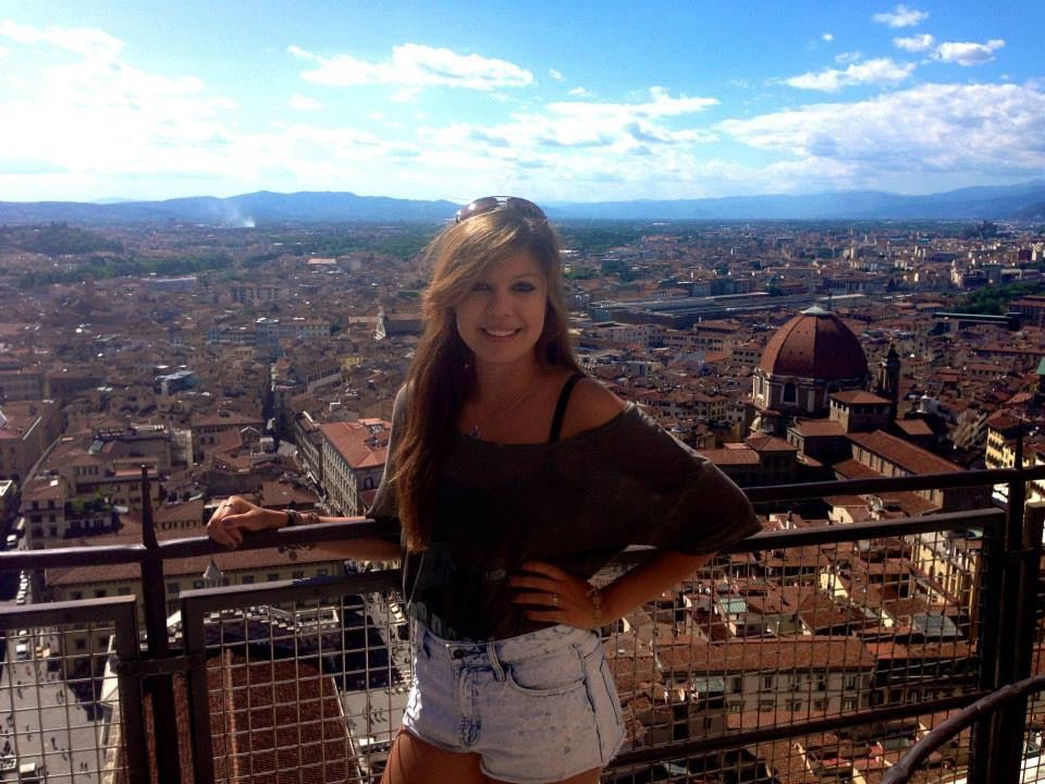Lil mini me studying abroad in college!  Florence, Italy (2013)