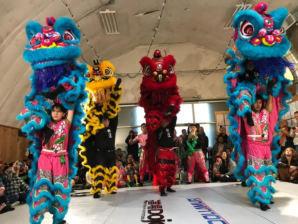 White Lotus Dragon & Lion Dance at Dojo Outfitters
